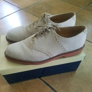 Cole Haan Men's IVORY colored Oxford Shoes sz 11 M